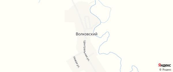 Карта Волковского поселка в Челябинской области с улицами и номерами домов