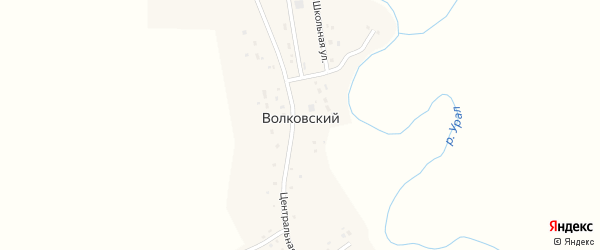 Школьная улица на карте Волковского поселка с номерами домов