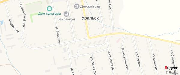 Юбилейная улица на карте села Уральска с номерами домов