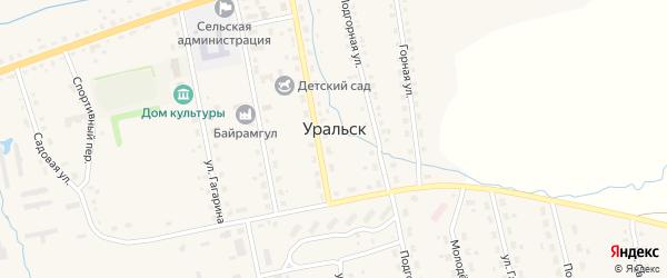 Улица 70 лет Октября на карте села Уральска с номерами домов