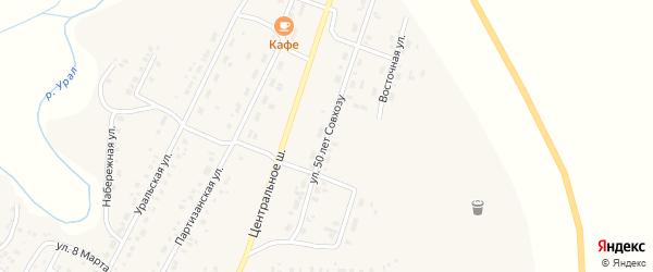 Улица 50 лет Совхозу на карте Приморского поселка с номерами домов