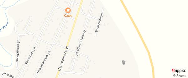 Восточная улица на карте Приморского поселка с номерами домов