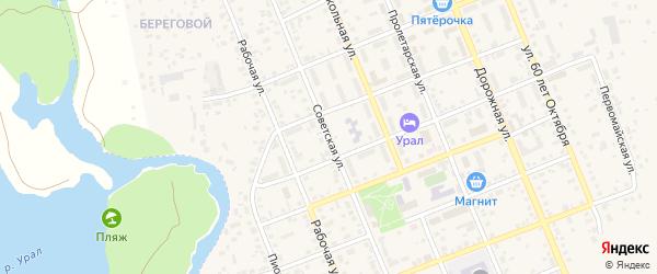 Советская улица на карте села Агаповки с номерами домов