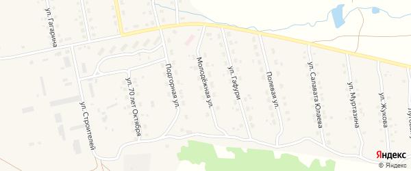 Молодежная улица на карте села Уральска с номерами домов