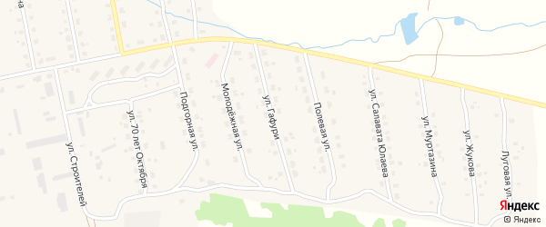 Улица М.Гафури на карте села Уральска с номерами домов