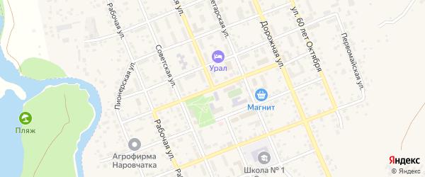 Школьная улица на карте села Агаповки с номерами домов