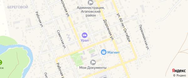 Пролетарская улица на карте села Агаповки с номерами домов