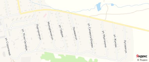 Полевая улица на карте села Уральска с номерами домов