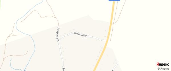 Яицкая улица на карте села Уральска с номерами домов