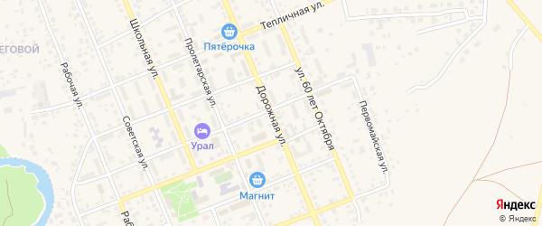 Дорожная улица на карте Буранной железнодорожной станции с номерами домов