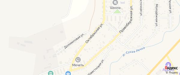 Октябрьская улица на карте села Агаповки с номерами домов