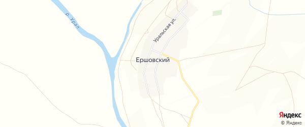Карта Ершовского поселка в Челябинской области с улицами и номерами домов