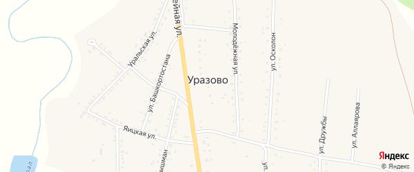 Улица Башкортостана на карте села Уразово с номерами домов