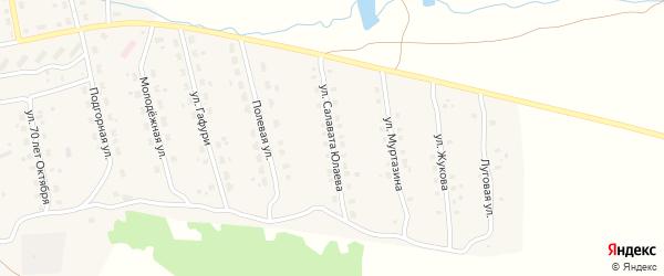 Улица С.Юлаева на карте села Уральска с номерами домов