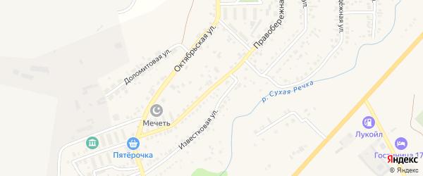 Правобережная улица на карте села Агаповки с номерами домов