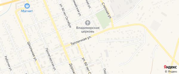 Первомайская улица на карте села Агаповки с номерами домов