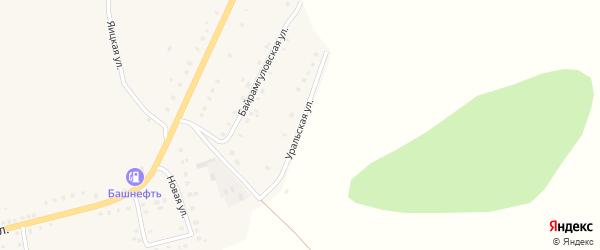 Уральская улица на карте села Уральска с номерами домов