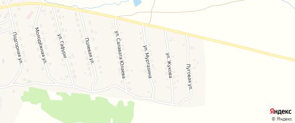 Улица Муртазина на карте села Уральска с номерами домов