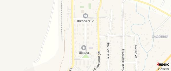Железнодорожная улица на карте села Агаповки с номерами домов
