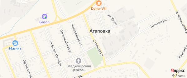 Степная улица на карте железнодорожной станции Гумбейки с номерами домов