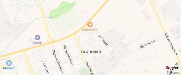 Новая улица на карте села Агаповки с номерами домов