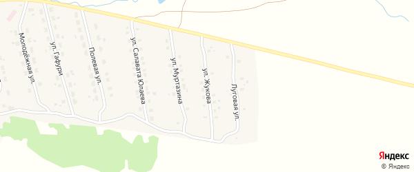 Улица Жукова на карте села Уральска с номерами домов