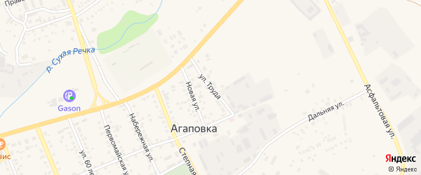 Улица Труда на карте села Агаповки с номерами домов