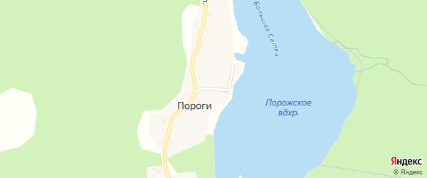 Луговая улица на карте поселка Пороги с номерами домов