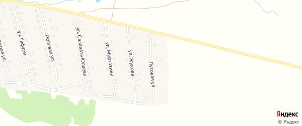 Луговая улица на карте села Уральска с номерами домов