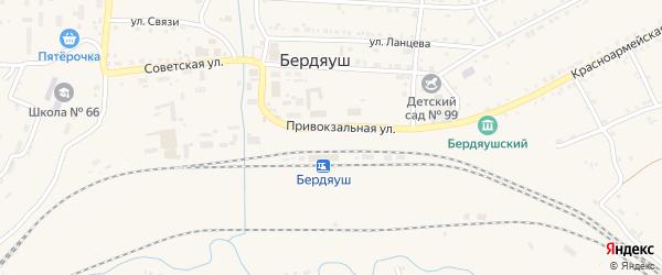 Улица Каменка на карте поселка Бердяуш с номерами домов