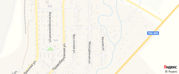 Молодежная улица на карте села Агаповки с номерами домов