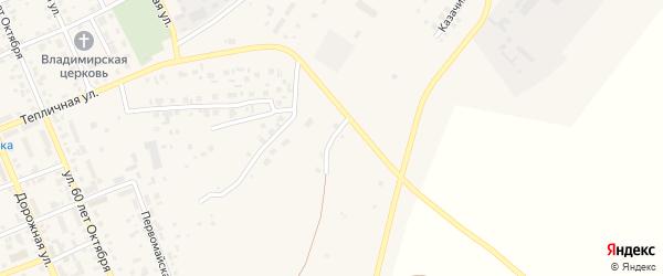Солнечный микрорайон на карте села Агаповки с номерами домов