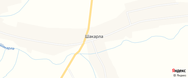 Новая улица на карте села Шакарлы с номерами домов