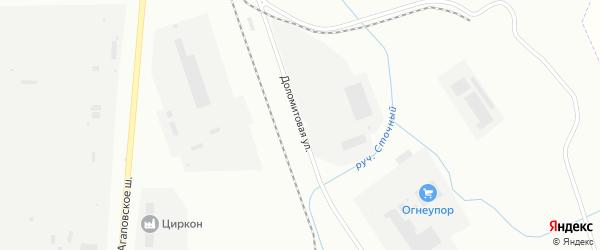 Доломитовая улица на карте Магнитогорска с номерами домов