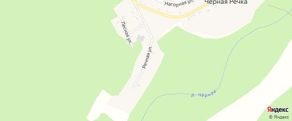 Речная улица на карте поселка Черной Речки с номерами домов