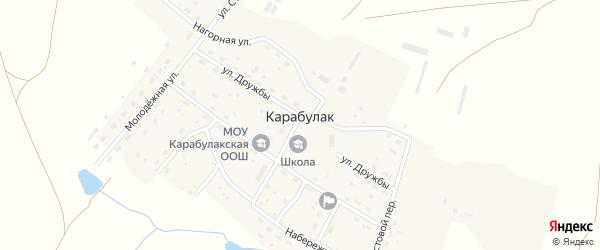 Солнечный переулок на карте поселка Карабулака с номерами домов