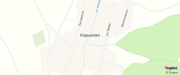 Переулок Мира на карте деревни Кадырово с номерами домов