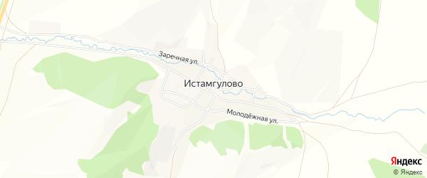 Карта деревни Истамгулово в Башкортостане с улицами и номерами домов
