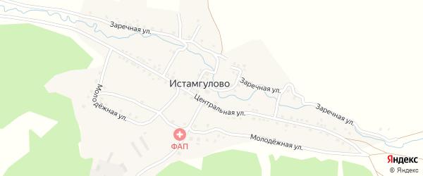 Подгорная улица на карте деревни Истамгулово с номерами домов