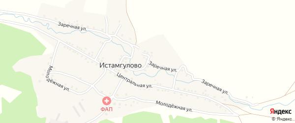 Заречная улица на карте деревни Истамгулово с номерами домов