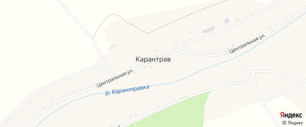 Лесная улица на карте села Карантрава с номерами домов