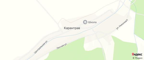 Карта села Карантрава в Башкортостане с улицами и номерами домов