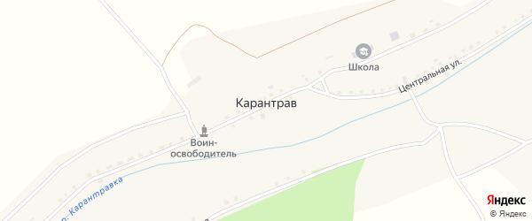 Улица Никонова на карте села Карантрава с номерами домов