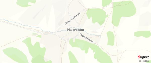 Карта деревни Ишкиново в Башкортостане с улицами и номерами домов