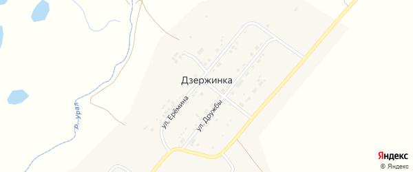 Улица Еремина на карте поселка Дзержинки с номерами домов