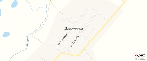 Приуральная улица на карте поселка Дзержинки с номерами домов