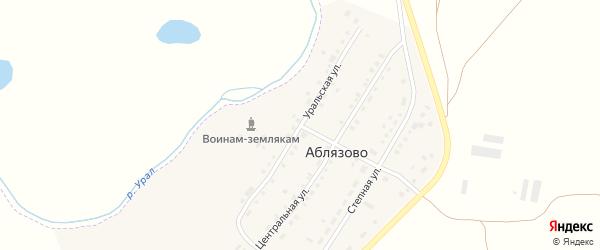 Уральская улица на карте поселка Аблязово с номерами домов