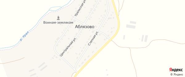 Степная улица на карте поселка Аблязово с номерами домов