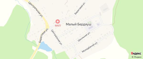 Улица Механизаторов на карте поселка Малого Бердяуша с номерами домов