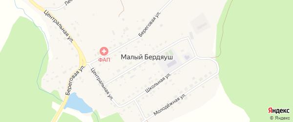 Российская улица на карте поселка Бердяуш с номерами домов